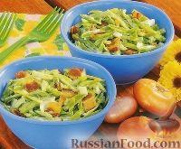 Фото к рецепту: Салат из зеленой фасоли