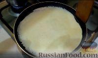 Фото приготовления рецепта: Блины: как готовить, варианты сворачивания и начинки - шаг №3
