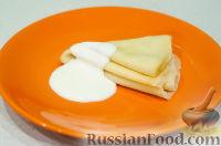 Фото приготовления рецепта: Блины: как готовить, варианты сворачивания и начинки - шаг №18
