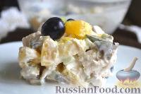 Фото к рецепту: Салат с курицей, авокадо и киви