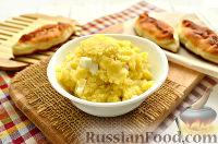 Фото к рецепту: Начинка для пирожков с картошкой и яйцами