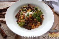 Фото к рецепту: Салат с фасолью, кукурузой и сухариками