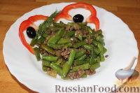 Фото к рецепту: Стручковая фасоль с мясом
