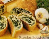 Фото к рецепту: Рулетики с сыром и шпинатом