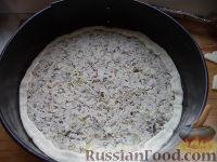 Фото приготовления рецепта: Мясной пирог из слоеного теста - шаг №12