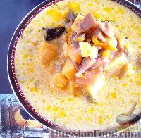 Фото к рецепту: Грибной суп со сметаной