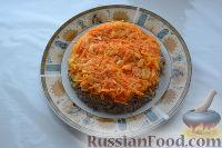 Фото приготовления рецепта: Салат «Улёт» с печенью индейки и грибами - шаг №6