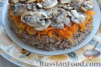 Фото приготовления рецепта: Салат «Улёт» с печенью индейки и грибами - шаг №7