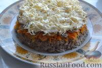 Фото приготовления рецепта: Салат «Улёт» с печенью индейки и грибами - шаг №9