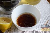 Фото приготовления рецепта: Салат с креветками, апельсинами и орехами - шаг №6
