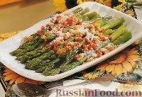 Фото к рецепту: Спаржа с красным перцем