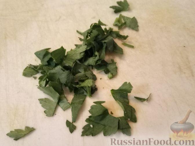 Фото приготовления рецепта: Капустный суп с рисом и сливками - шаг №12