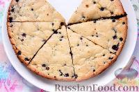Фото к рецепту: Пирог с черникой и апельсином