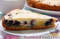 Фото приготовления рецепта: Пирог с черникой и апельсином - шаг №10