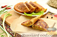 Фото к рецепту: Блинные пирожки с капустой и мясным фаршем