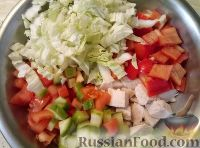 Фото приготовления рецепта: Салат «Пекин» - шаг №6