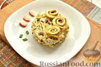 Фото к рецепту: Салат с блинчиками из яиц