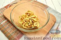 Фото приготовления рецепта: Салат с блинчиками из яиц - шаг №5