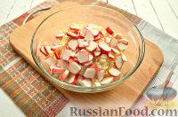 Фото приготовления рецепта: Салат с блинчиками из яиц - шаг №8