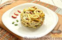Фото приготовления рецепта: Салат с блинчиками из яиц - шаг №11