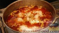 Фото приготовления рецепта: Плов с фрикадельками - шаг №11