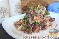 Фото к рецепту: Салат из рыбных консервов с фасолью