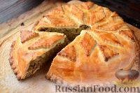 Фото к рецепту: Курник с грибами и картофелем