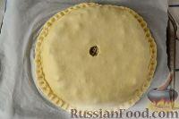 Фото приготовления рецепта: Курник с грибами и картофелем - шаг №11