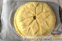 Фото приготовления рецепта: Курник с грибами и картофелем - шаг №12
