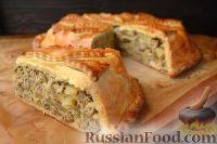 Фото приготовления рецепта: Курник с грибами и картофелем - шаг №14