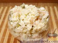 Фото к рецепту: Салат из креветок с рисом