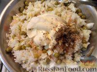 Фото приготовления рецепта: Салат из креветок с рисом - шаг №6