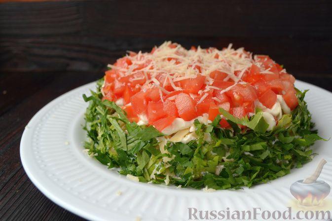 слоеный салат с говядиной рецепт с фото