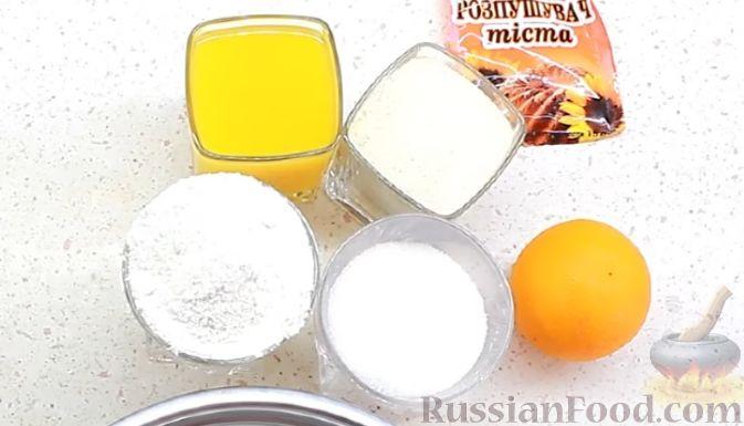 Фото приготовления рецепта: Постный апельсиновый манник - шаг №1