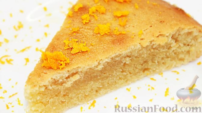 Фото приготовления рецепта: Постный апельсиновый манник - шаг №10