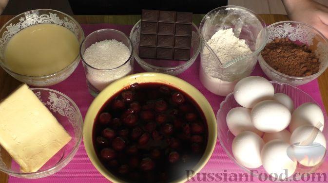"""Фото приготовления рецепта: Торт """"Пьяная вишня"""" - шаг №1"""