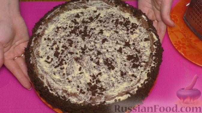 """Фото приготовления рецепта: Торт """"Пьяная вишня"""" - шаг №14"""