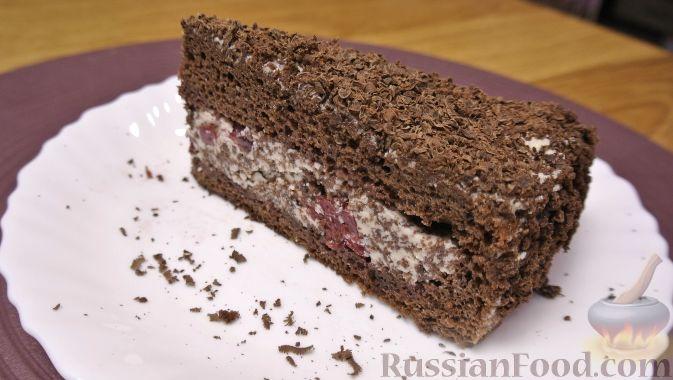 """Фото приготовления рецепта: Торт """"Пьяная вишня"""" - шаг №16"""