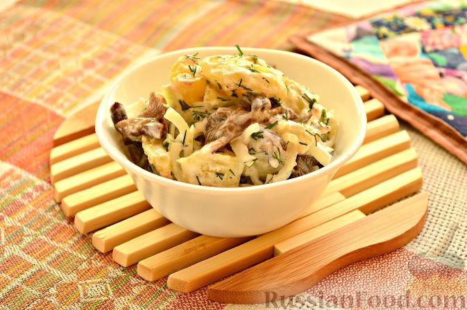 слоеный салат с сухими белыми грибами рецепты