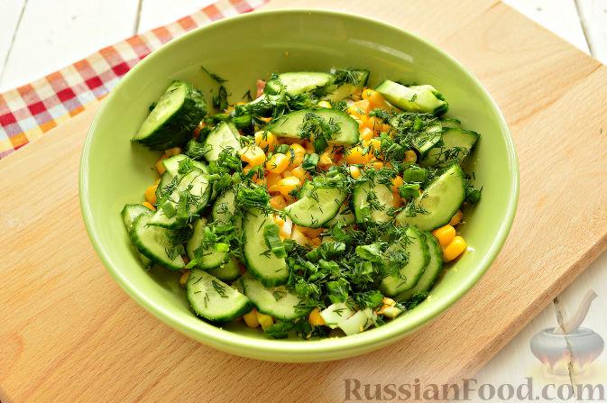 пошаговый рецепт салата с консервированной горбушей