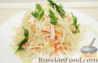 Фото к рецепту: Квашеная капуста быстрого приготовления