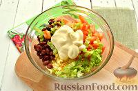 Фото приготовления рецепта: Весенний салат с куриной грудкой - шаг №7