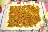 Фото приготовления рецепта: Мясной рулет из лаваша - шаг №6