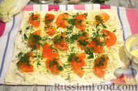 Фото приготовления рецепта: Мясной рулет из лаваша - шаг №9