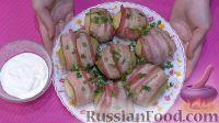 Фото приготовления рецепта: Картофель в беконе - шаг №6