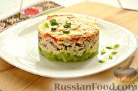 Фото к рецепту: Салат с редькой и курицей