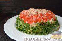 Фото к рецепту: Слоеный салат с говядиной и овощами