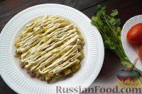 Фото приготовления рецепта: Слоеный салат с говядиной и овощами - шаг №4