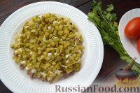 Фото приготовления рецепта: Слоеный салат с говядиной и овощами - шаг №5