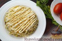 Фото приготовления рецепта: Слоеный салат с говядиной и овощами - шаг №7